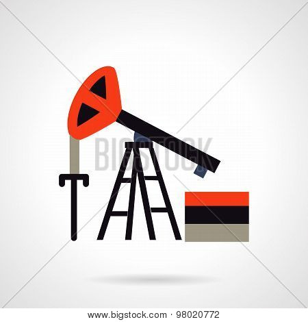 Oil extraction flat vector icon