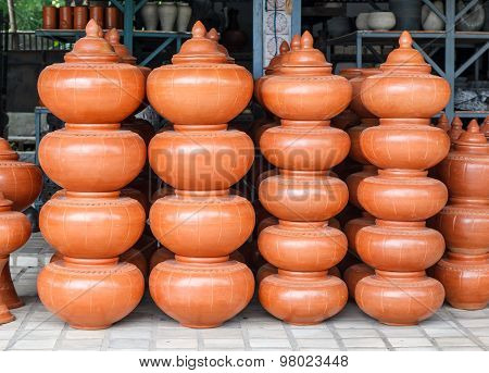 Northern Thai clay pottery