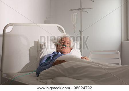 Seriously Ill Senior Man