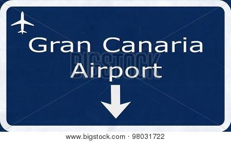 Gran Canaria Spain Airport Highway Sign