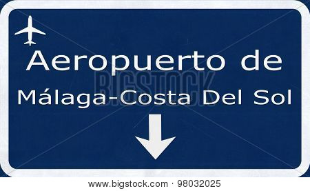 Malaga Costa Del Sol Spain Spain Airport Highway Sign