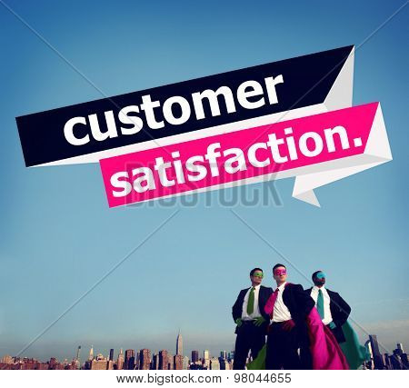 Customer Satisfaction Service Effciency Consumer Concept poster