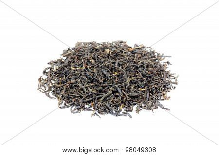 Heap of loose black tea Assam isolated on white background poster