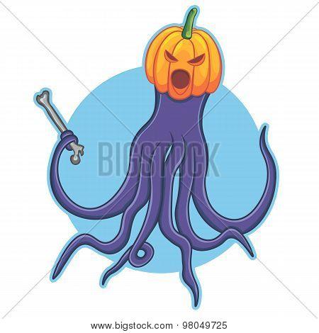 helloween octopus illustration