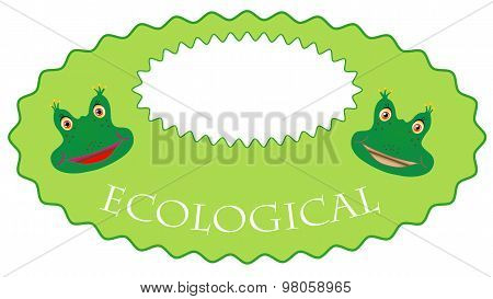 Eco-label is a frog
