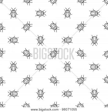 Colorado bugs seamless pattern