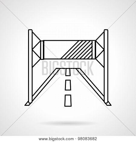 Road advertising line vector icon