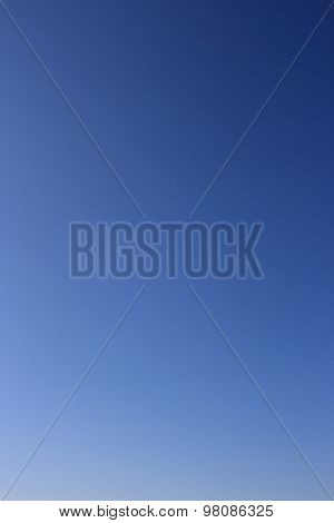 Clear blue sky without clouds.