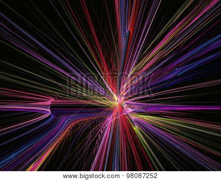 Fractal Abstract Background Illustration Line Movement On Highwa