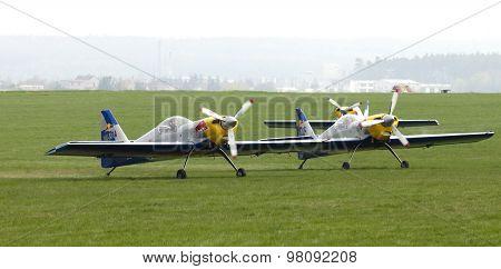 Flying Bulls Aerobatics Team On The Airshow