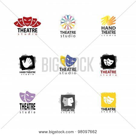 Set Of Theatre Studio Logo Design