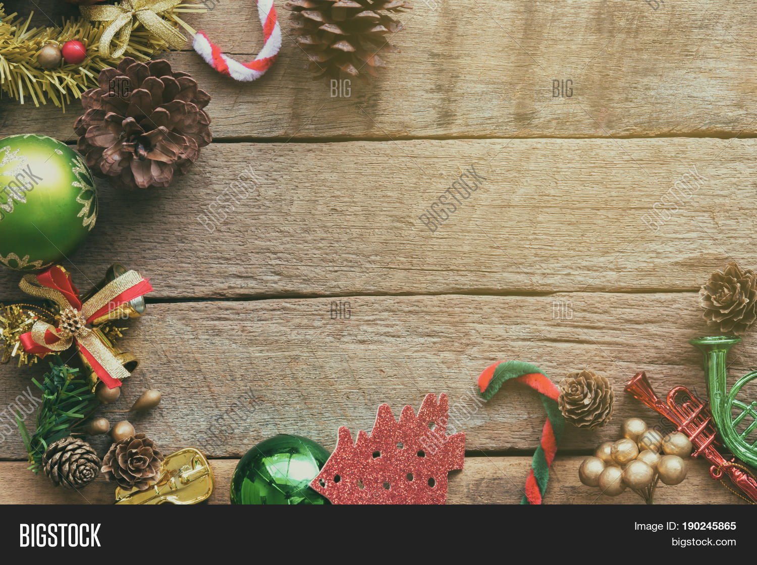 christmas theme background in vintage tone rustic wood background for christmas with copy space for