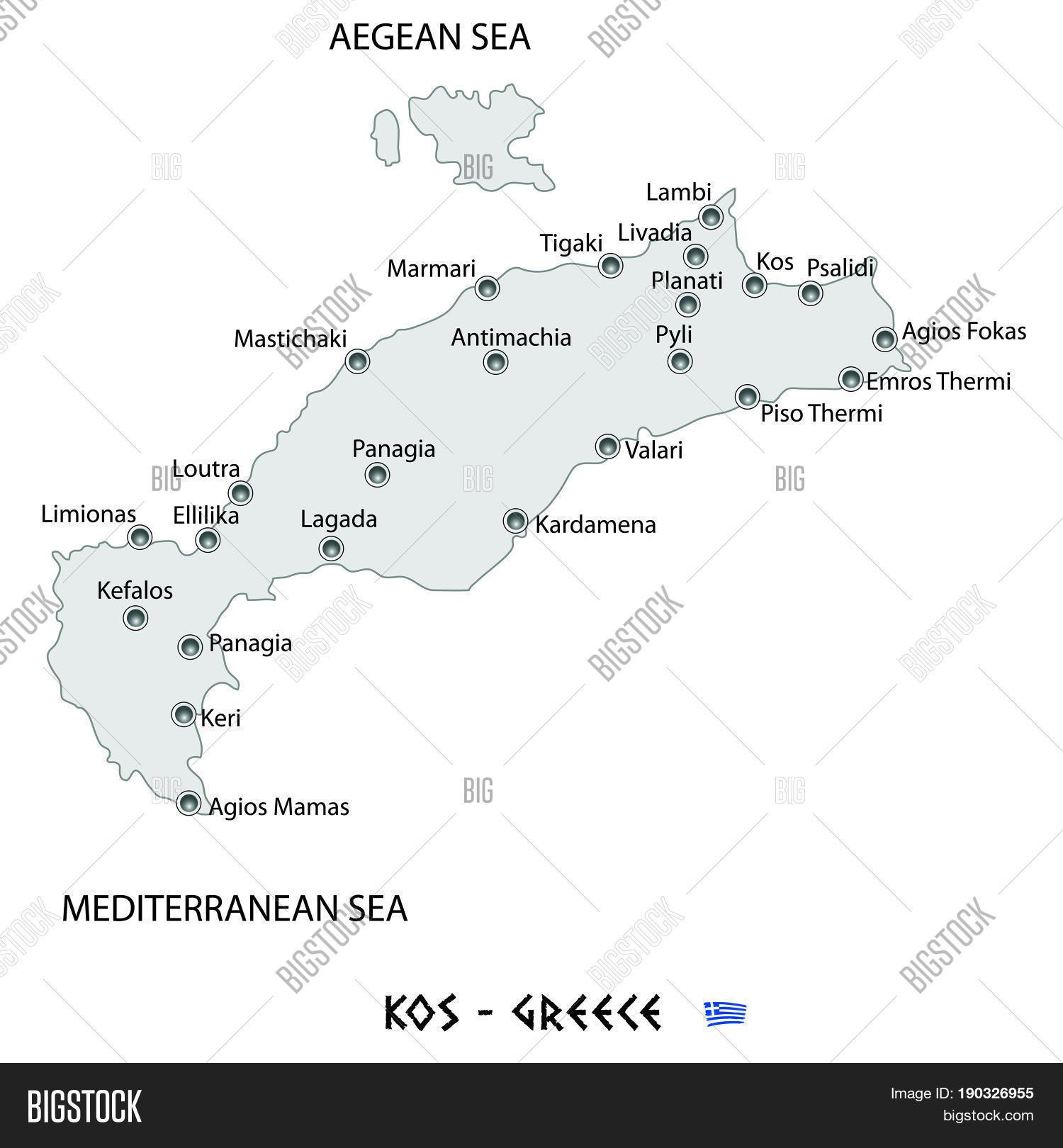 Island kos greece vector photo free trial bigstock island of kos in greece white map illustration gumiabroncs Gallery