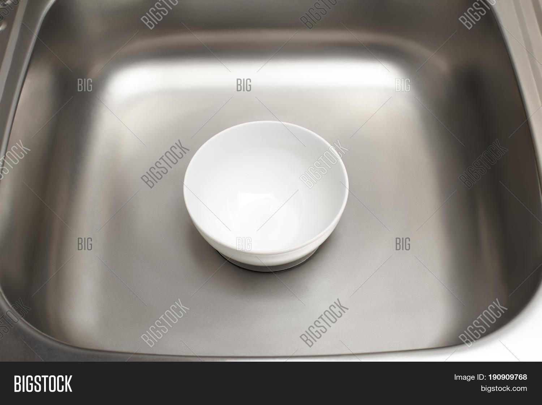 Kitchen Sink Clean White Bowl Image & Photo | Bigstock