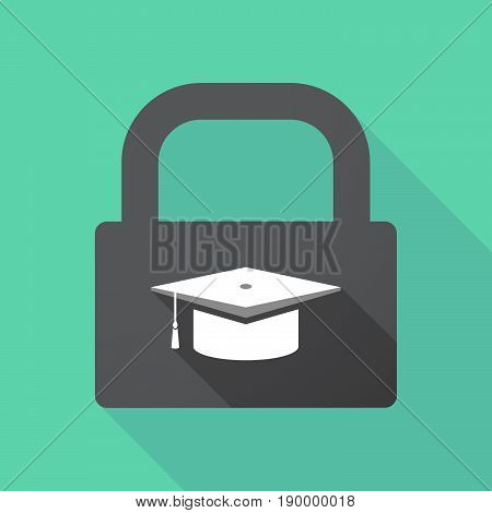 Long Shadow Pad With A Graduation Cap