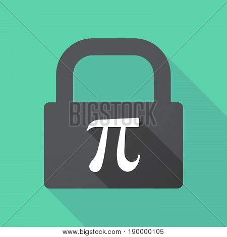 Long Shadow Pad With The Number Pi Symbol