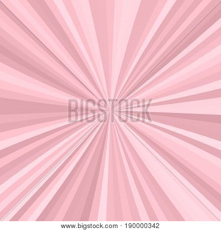 Abstract starburst background from radial stripes in pink tones