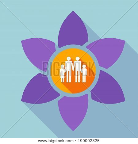 Long Shadow Loto With A Gay Parents  Family Pictogram