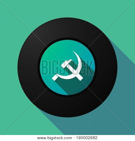 Long Shadow Music Disc With  The Communist Symbol