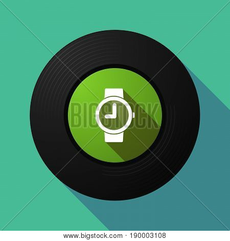 Long Shadow Music Disc With A Wrist Watch