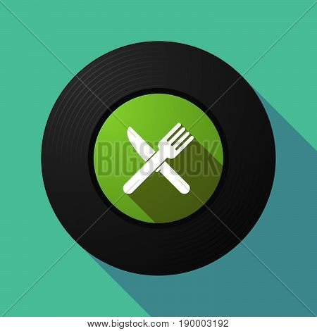 Long Shadow Music Disc With A Knife And A Fork