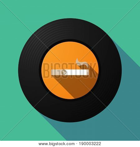 Long Shadow Music Disc With An Electronic Cigarette