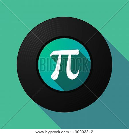 Long Shadow Music Disc With The Number Pi Symbol