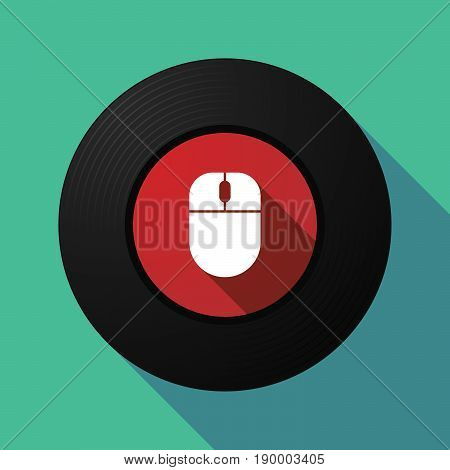 Long Shadow Music Disc With A Wireless Mouse