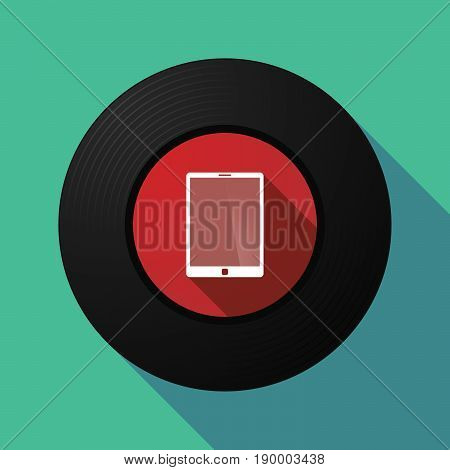 Long Shadow Music Disc With A Tablet Computer