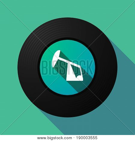 Long Shadow Music Disc With A Horsehead Pump