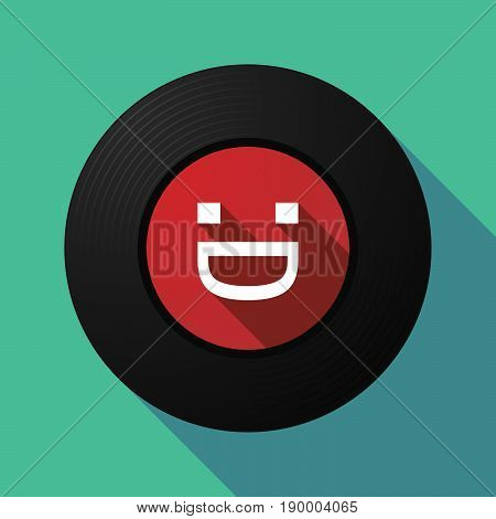 Long Shadow Music Disc With A Laughing Text Face