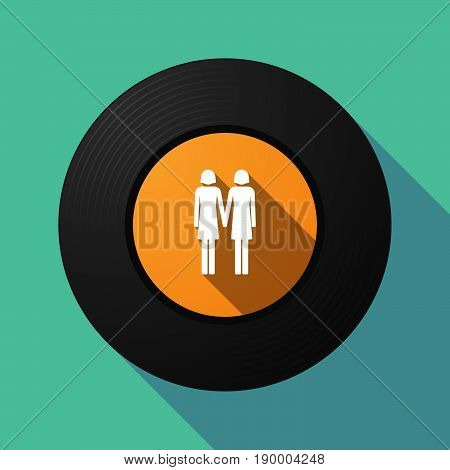 Long Shadow Music Disc With A Lesbian Couple Pictogram