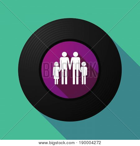 Long Shadow Music Disc With A Gay Parents  Family Pictogram