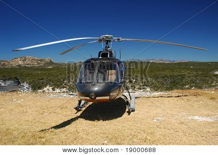 Helicopter on the ground
