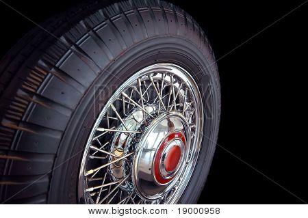 Vintage car tire poster