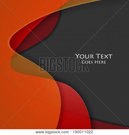 bright vector abstract background. Colorful elements for design. Wavy template for your work. Eps10