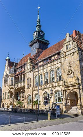 BUCKEBURG, GERMANY - MAY 22, 2017: Old town hall at the market square of Buckeburg, Germany