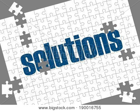 Solutions in jigsaw puzzle
