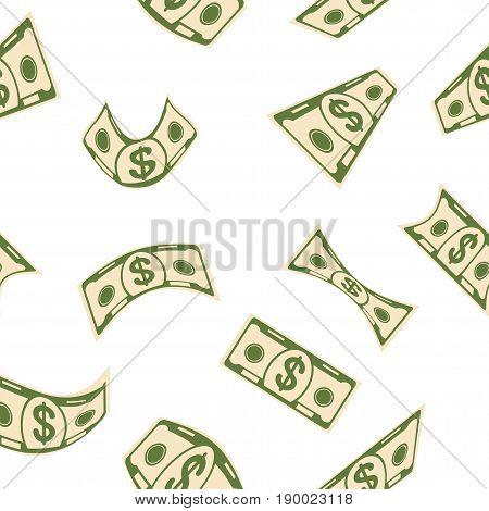 White Money Seamless Pattern