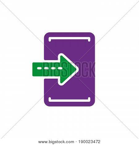 Import enter colorful icon vector flat sign. Symbol logo illustration