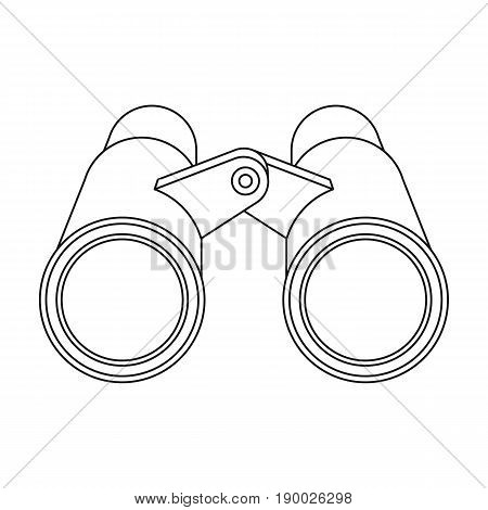 Binoculars for observation.African safari single icon in outline style vector symbol stock illustration .