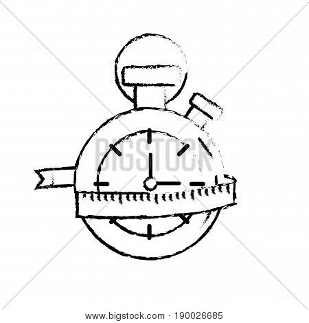figure chronometer with measuring to practice exercise vector illustration
