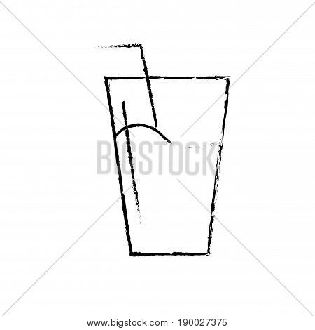 figure water glass to freshness and healthylife vector illustration