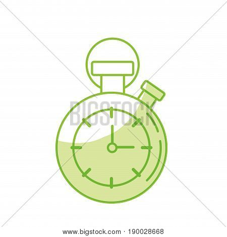 silhouette chronometer to know and meter the time vector illustration