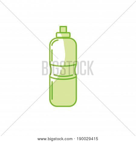 silhouette bottle of water to reshness in the gym vector illustration
