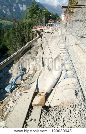 Road Collapsed At Engelberg