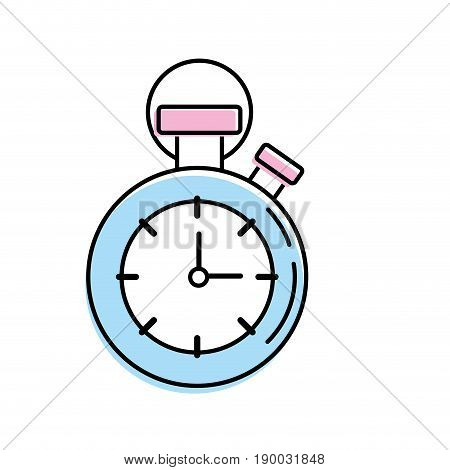 chronometer to know and meter the time vector illustration