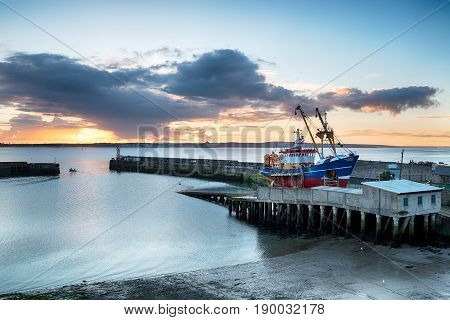 Sunrise Over Newlyn Harbour