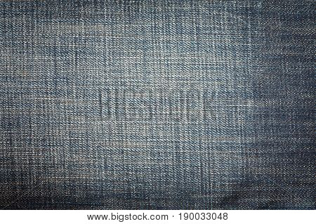 Jeans Fabric Background Texture Color Indigo Blue.