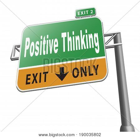 Think Positive Billboard Sign